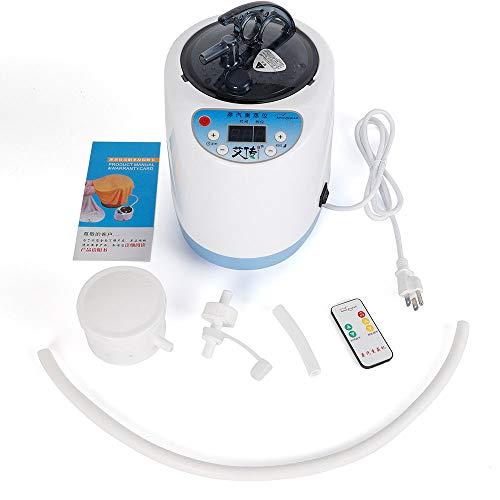 Portable Sauna Steamer, 2L Remote Control Sauna Steam Engine Fumigation Machine, Pot Evaporator Home Shower Spa Tent Body Therapy Steamer Steam Generator, Loss Weight Detox Full Body Slimming