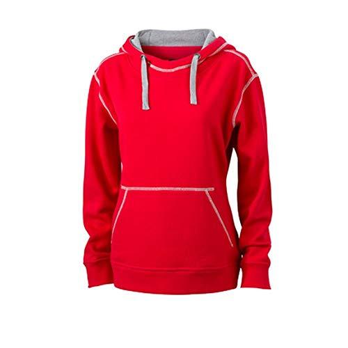 Modelo And Mujer Para Nicholson Jaspeado gris Rojo Lifestyle Sudadera James twHd6Fnq4t
