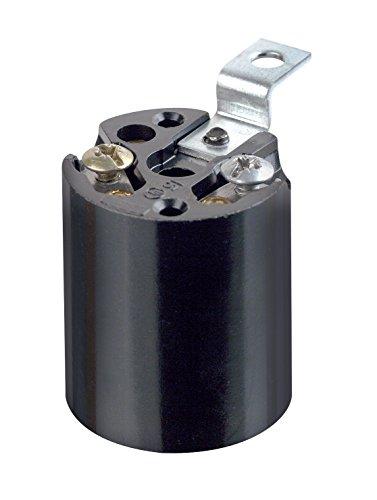 Leviton 3352-4 1-Circuit 1-Piece Keyless Lamp Holder, 660 W, Incandescent, Medium, Black ()