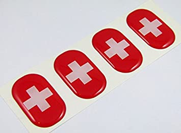SWISS CAR BADGE SWITZERLAND COAT OF ARMS AUTOMOBILE GRILLE BADGE