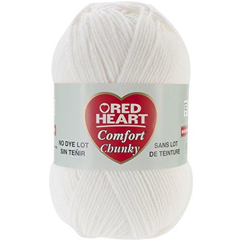 Coats & Clark Inc. RED Heart Comfort Chunky Yarn, White Coats & Clarks Yarn