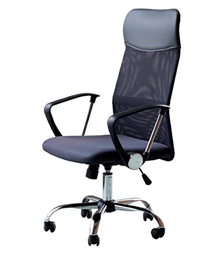 EBS High Back Office Chair for Computer Desk, Task Chair with Arms and Height Adjustable Mesh Ergonomic Support