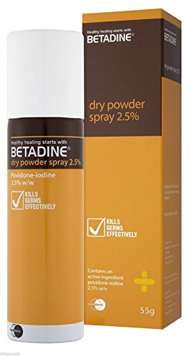 Antiseptic Powder (Betadine dry powder spray 55gm 10% PVPI Antiseptic Solution)