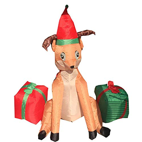 CDL 4ft Christmas Inflatable Reindeer Animated Outdoor Xmas Yard in Various Design I04
