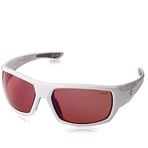 Gargoyles Men's Wrath Polarized Wrap Sunglasses,White,64.5 - Gargoyle Polarized Sunglasses