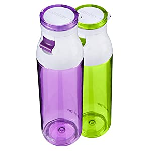 Contigo Jackson Water Bottle, 24-Ounce, Lilac and Citron, 2-Pack