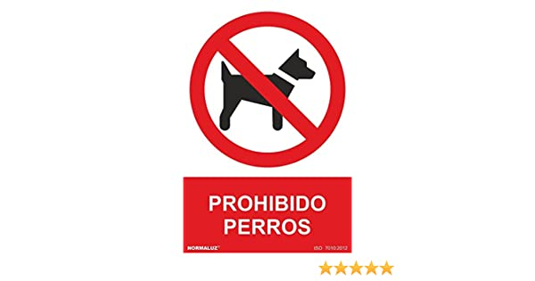 Normaluz RD46633 - Señal Adhesiva Prohibido Perros Adhesivo de Vinilo 10x15 cm