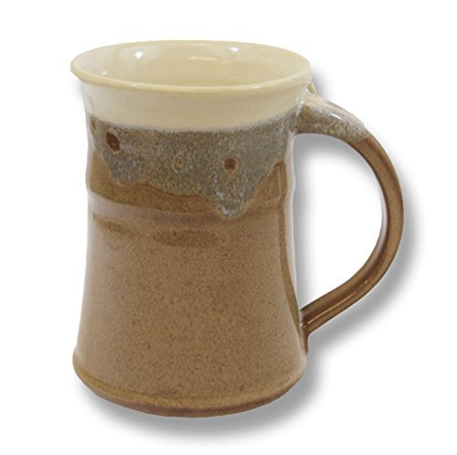 Rustic Stoneware Mug - Clay in Motion Handmade Ceramic Large Mug 20oz - Desert Sand