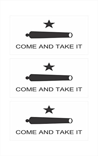 3 -Texas Come and Take It Flag Hard Hat Biker Helmet Stickers Decal