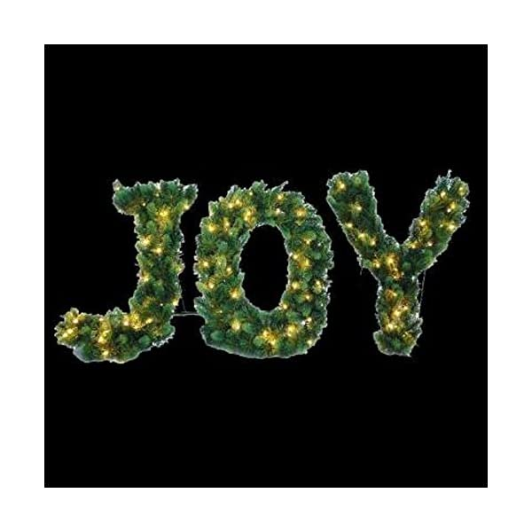 Pre-Lit-LED-Lighted-Joy-Shape-Artificial-Christmas-Tree-Decor-24-T-X-36-W
