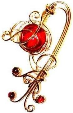 Passion du fil 140300101 Strass rouge Broche pour femme PIK