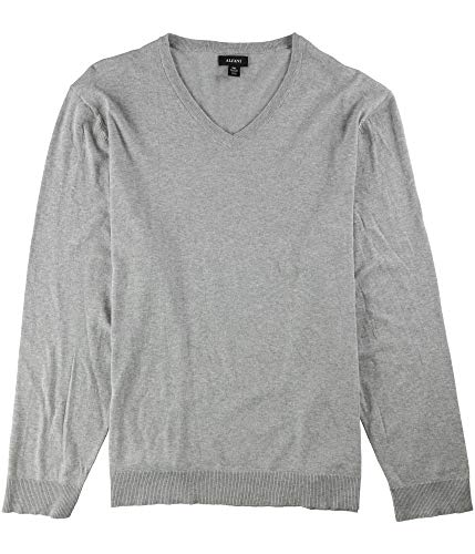 Alfani Mens Regular Fit V-Neck Pullover Sweater Gray L from Alfani