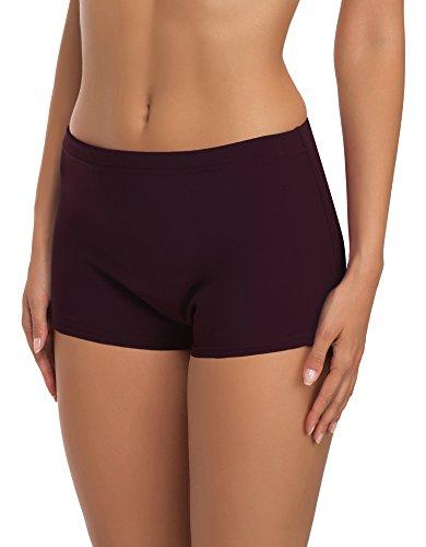 Merry Style Shorts de Ba?o para Mujer Modelo Leila Morado (5227)