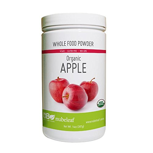 Nubeleaf Apple Powder - Non-GMO, Gluten-Free, Raw, Organic, Vegan Source of Essential Vitamins & Minerals - Single-Ingredient Nutrient Rich Superfood for Cooking, Baking, Smoothies (14oz)