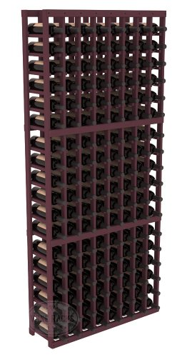 Wine Racks America Ponderosa Pine 8 Column Wine Cellar Kit. Burgundy Stain