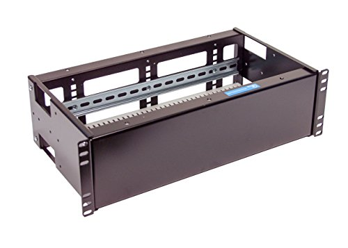 - IRP10325DS10 3U Rackmount Industrial heavy duty 14 Gauge DOUBLE Solid and Din Rail adjustable PANELS for 19-inch 2-post or 4-post server rack (DUAL Solid and Din Rail Panels)