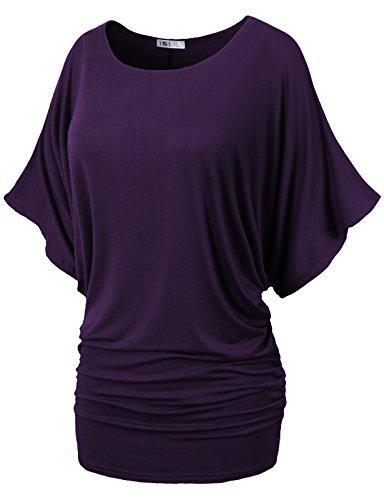 H2H Womens Sleeve Dolman Shirring