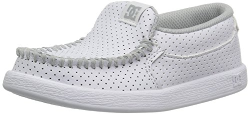 DC Boys' Villain SE Skate Shoe, White/White, 13.5 M US Little Kid