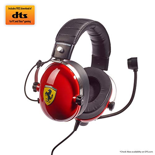 Thrustmaster T.Racing Scuderia Ferrari Edition-DTS – Gaming Headset For Race Simulation, PC/PS4/Xbox One/Nintendo Switch…