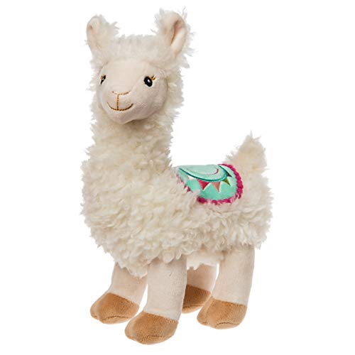 Mary Meyer Fuzzy Sherpa-Like Stuffed Animal Soft Toy, Lily Llama, 10-Inches Blue Eyed White Cats
