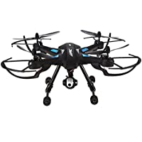Lcyyo@ JJRC H26WH 2.4Ghz 4CH 6 Axis Gyro Drone WiFi FPV Headless Altitude Hold Mode RC Quadcopters RTF with HD Camera & LED Lights & 360 Degree Roll-over for Kids (Black)