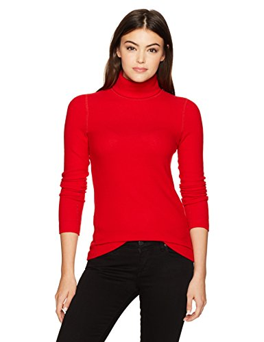 Three Dots Women's Brushed Sweater Tight Mid Shirt, Current, Xtra Small