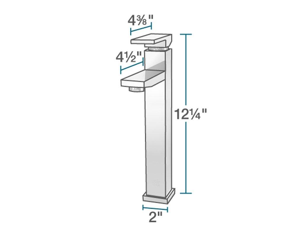 MR Direct 721-bn Brushed Nickel Vessel Faucet