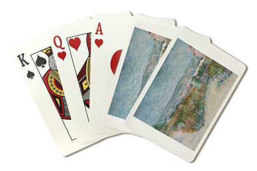 Montmartre: Behind the Moulin de la Galette - Masterpiece Classic - Artist: Vincent Van Gogh c. 1887 (Playing Card Deck - 52 Card Poker Size with ()