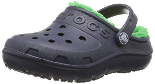 grass Unisex Clog Green Hilo Crocs E Kids Bambino navy Blu Sabot Lined Zoccoli q04PwS1