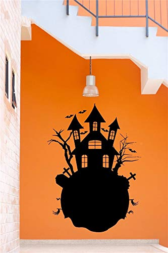 Poinly Wall Stickers Art DIY Removable Mural Room Decor Mural Vinyl Evil Soul Castle Halloween Funny Festival Boy Bedroom Living Room]()
