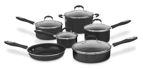 CONAIR 11 PC. SET IN BLACK NON-STICK COOKWARE / 55-11BK /