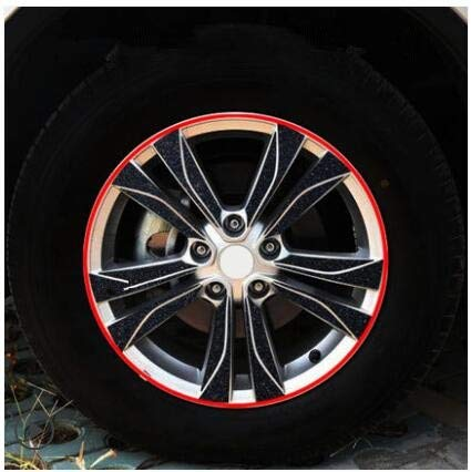 Powder Brightly Plated Carbin Fibre 17 Inch Wheels Rims Sticker for Renault Keleos Z2CA735  (color Name  Double)