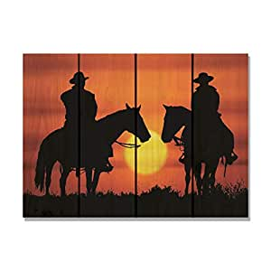 Gizaun Art Happy Trails Inside/Outside Full Color Cedar Wall Art