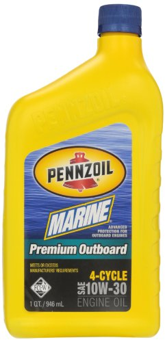 Pennzoil 5063875-12PK) 10W-30 4-Cycle Marine Engine Oil -...