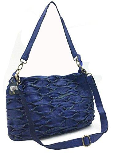 Oruil - Bolso estilo cartera para mujer, azul (Azul) - ST-46 azul