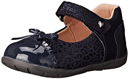 Geox B Kaytan Girl 20 First Walker (Infant/Toddler), Dark Navy, 19 EU (4 M US Toddler) (Flats Leather Geox)