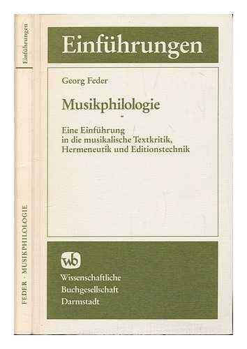 Musikphilologie