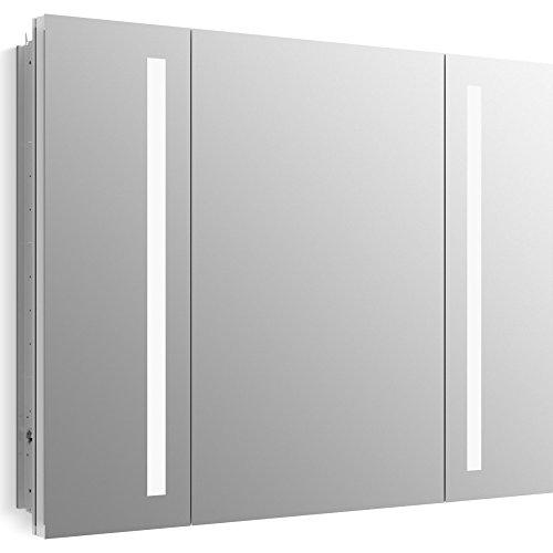 KOHLER 99011-TL-NA Verdera Lighted Medicine Cabinet, Aluminum, 40''x30'' by Kohler