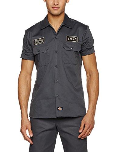 Hombre Camisa North Grau Para Irwin charcoal Dickies Grey Ch BqIndEwq