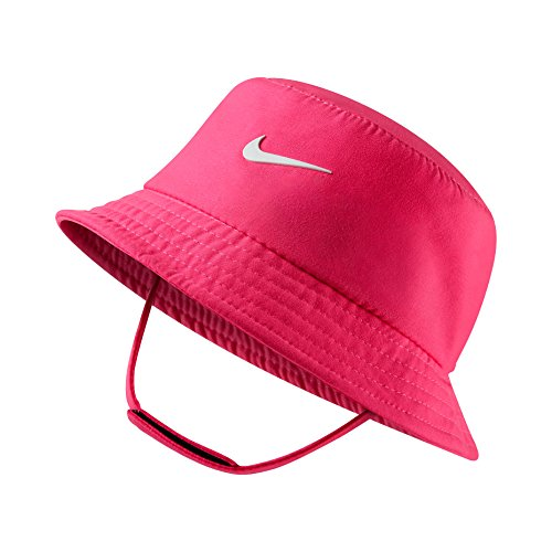 Nike Dry Infant/Toddler Girls Bucket Hat (2-4T, Hyper Pink (A96) / White/Reflective Silver)