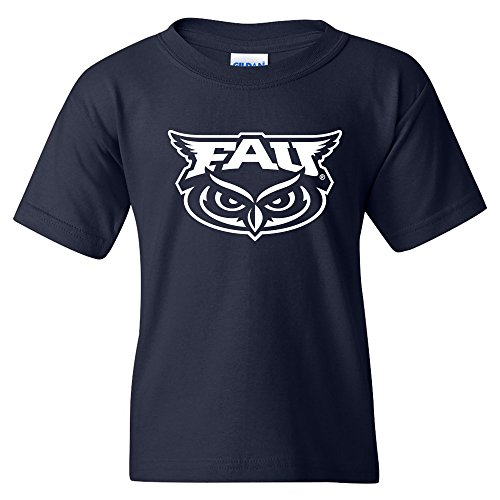 Florida Atlantic University Basketball - YS02 - FAU Owls Primary Logo Youth T-Shirt - Medium - Navy