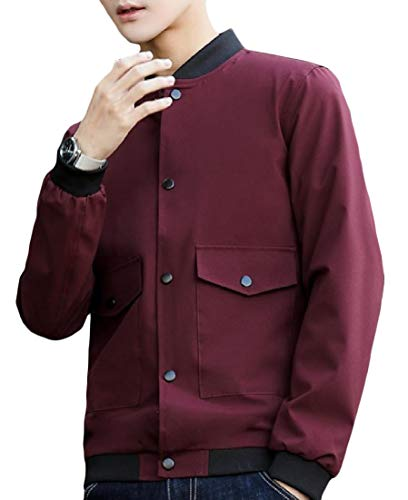 Pattern6 Leisure Long Pocket Plus Collar Size Sleeve Outwear AngelSpace Men's Stand Coat HXZwP
