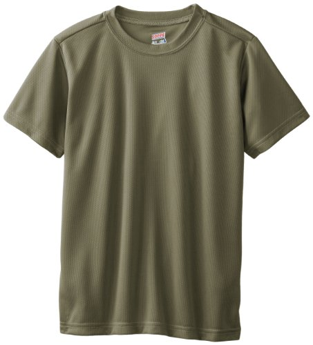 Soffe Big Boys' Dri Tee, Olive Drab Green, Small