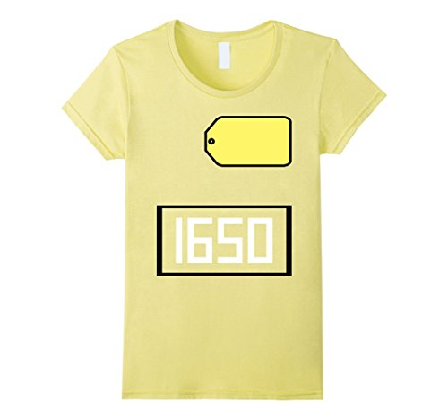 Price Is Right Big Wheel Costume (Womens Game Show Group Halloween Costume T-Shirt XL Lemon)