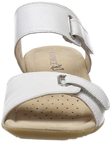 28705 Cinturino Bianco Alla Caprice Donna Nappa white Caviglia Con 102 Sandali adnnRqA