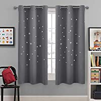 NICETOWN Blackout Star Curtains for Kids - Hollow Out...