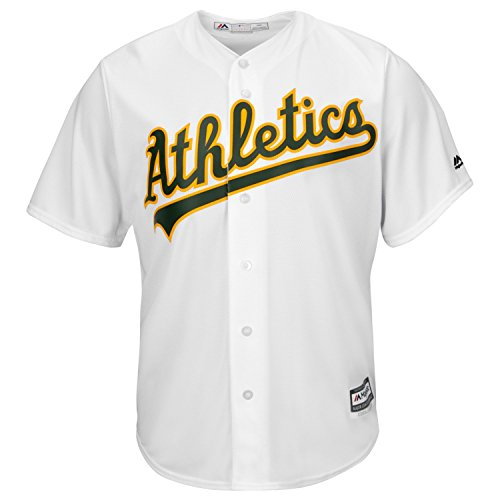 (Oakland Athletics Home White Cool Base Replica Jersey (2X))