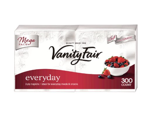 Vanity Fair Everyday Napkins, 300 Count