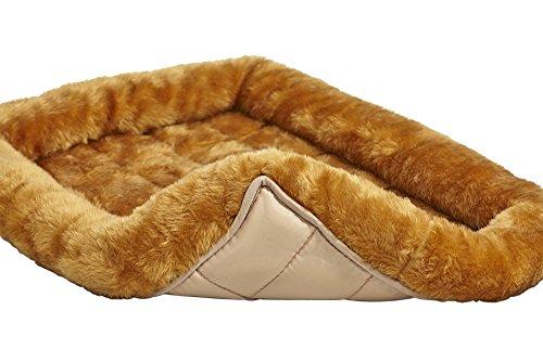 Cama para perro de canela de 42 pulgadas o gato recostado con cómodo refuerzo   Ideal para razas de perros grandes y se adapta a un cajón para perros de 42 pulgadas   Fácil mantenimiento, lavado y secado de la máquina   1 año de garantía