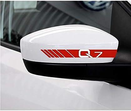 JiuRui Decoracion para Auto 2pcs Lot Adhesivo Reflectante Espejo retrovisor del Coche de Audi RS sline Quattro A1 A3 A4 A5 A6 A7 A8 Q3 Q5 Q7 Q8 TT B6 B8